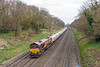 17th Apr 13:  Seen from the new Duffield Road bridge is 66171 working 6B35 from Hayes op Moreton on Lugg