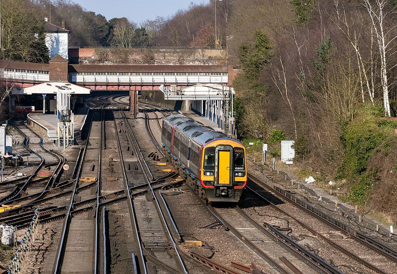 1st Apr 13:   159017  trusted to form 1L47 the 15.50 London Waterloo to Salisbury races through Weybridge