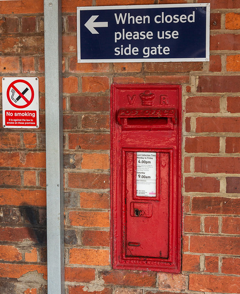 14th Apr 13:  A Victorian post box on the platform of Bentley Station