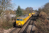 1st Apr 13:  The De Icing train from Eastleigh to Eastleigh TnT by 57305 & 57310  running as 8Y78 is captured at Pooley Green between Egham and Staines