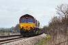 13th Apr 13:  4O53 is the 04.33 from Wakefield Europort to Eastleigh Yard today powered by 66185.  Captured as it runs through Grazeley.