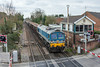 22nd Apr 13:  59004 passing Wokingham Signal Box while working 7Z20 the 10.58 from Grain to Merehead