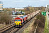 16th Apr 13:  Running over an hour late is 59204 heading 7Z20 from Grain to Merehead away from Bracknell