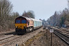 3rd Apr 13:   4M52 the Southampton to Castle Bromwich car carriers, in the hands of 66169, nears Tilehurst