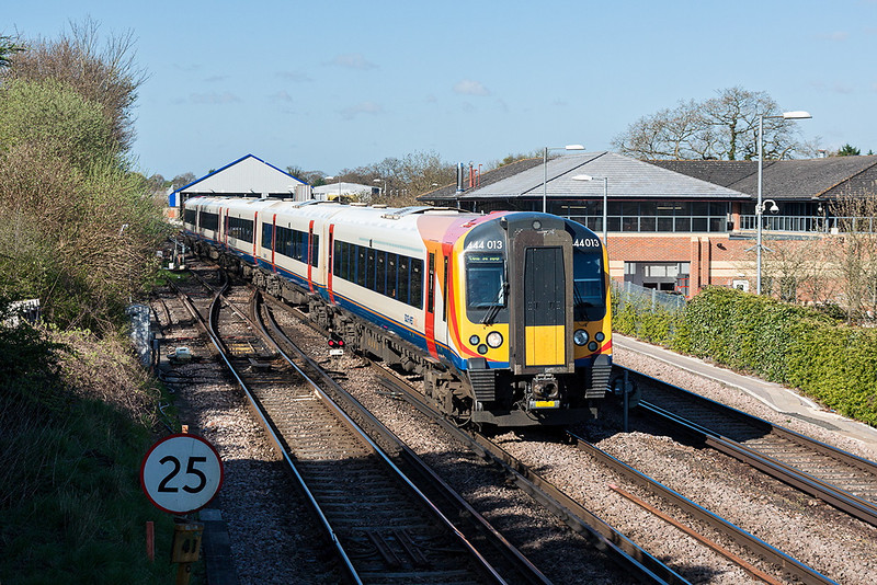 30th Apr 13:  Arriving at Farnham 444013 is 1A24  the 08.44 from Alton to Waterloo