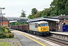7th Aug 13:  DCR loco 56311 runs through Platform 4 at Taplow with 6Z84 empty boxes from Calvert to Willesden