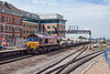 8th Aug 13:  66139 brings the Whatley to Churchyard Sidings in St Pancras through Platform 7 at Reading