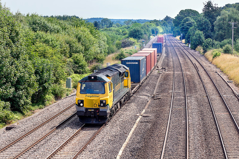 1st Aug 13:  70016 heads 4V50 from Southampton to Wentloog through Lower Basildon