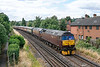 12th Aug 13:  Running into Egham are 47245 & 47237 bringing 5Z83 the empty stock from Bristol Kingsland Road to Southall.