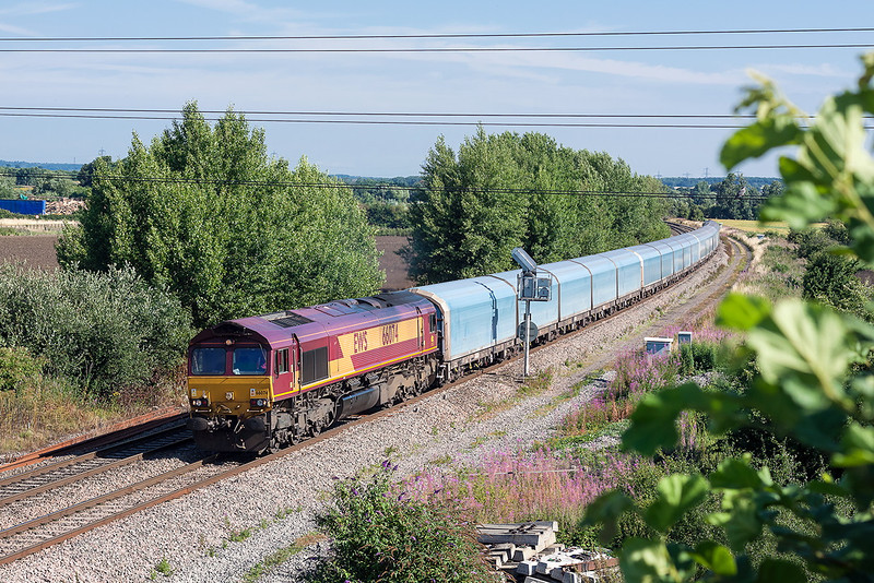 1st Aug 13:  The Cowley to Southampton Car Carriers in the hands of 66074 at Didcot North Junction