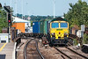 28th Aug 13:  Coming off the chord ar Reading West is 66505 on the point of 4O27 from Garston to Southampton