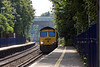 28th Aug 13:  Running into Reading West is 66593 heading 4M61 from Millbrook FLT to Trafford Park