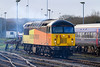 30th  Dec 13:  Smoking gently as it waits prior to the driver retuning to take 56113 to be refuelld at Bristol