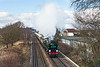 14th Feb 13:  The Valentines Day Surrey Hills Luncheon Special accelerates away from Chertsey.