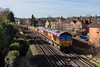 15th Feb 13:  66137 & 66025 head 6Y41 departmental from Eastleigh to Hoo Junction through Egham