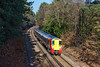 19th Feb 13:  Skirting the edge of Swinley Forest in South Ascot is Juniper 458020 forming the 11.53 from Ascot to Guildford