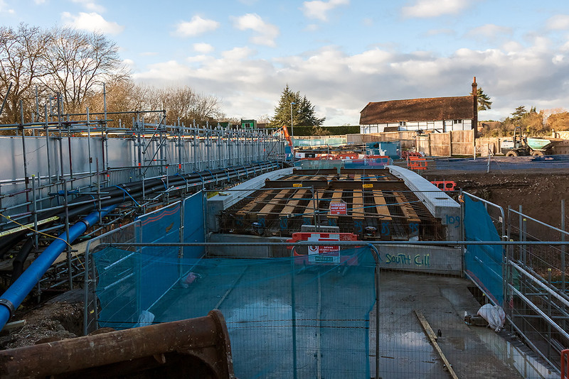 1st Jan 13:  The deck of the new bridge at Duffield Road in the Sonning Cutting