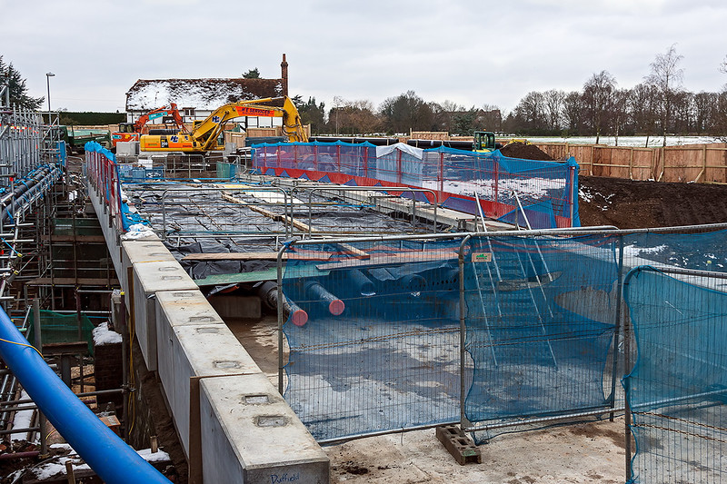 25th Jan 13:  The new Duffield Road bridge under construction.  It is due to be opened in early April