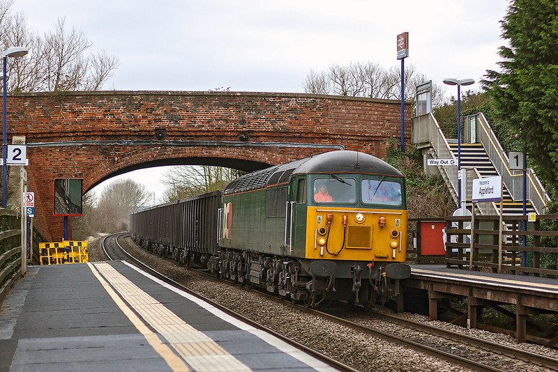 8th Jan 13:  DCR grid 56303  brings the Calvert to Didcot Fly Ash empties through Appleford