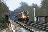 7th Jan 13:  Just about to cross the M3 near Virginia Water is 450559 forming 2S36 the 13.03 from Weybridge to Waterloo