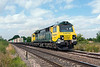 10th Jul 13:  Power Haul Class 70 #70016 brings 4O09 freightliner from Trafford Park to Southampton through Grazeley