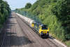 12th Jul 13:  For the 3rd time 70003 is tasked with powering 6M91 the PCA cement empties from Theale to Earles Siding in the Hope Valley.  Pictured here at Chalkpit Lane