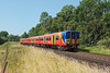 7th Jul 13:  455708 working the 09.24 from Reading to Waterloo nears  Egham