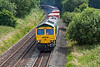 1st Jul 13:  66594  trusted with 4M68 the 14.50 from Southampton to Birch Coppice charges north though Silchester