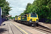 10th Jul 13:  70017 & 70018 on 4O51 from Wentloog to Southampton charge through Bramley