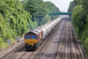 12th Jul 13:  66147 plods west with 6B35 from Acton to Moreton on Lugg