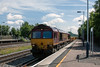 30th Jun 13:  Running through Winchfield is 66170 fronting 6N11 the 10.00 from Addlestone to Eastleigh
