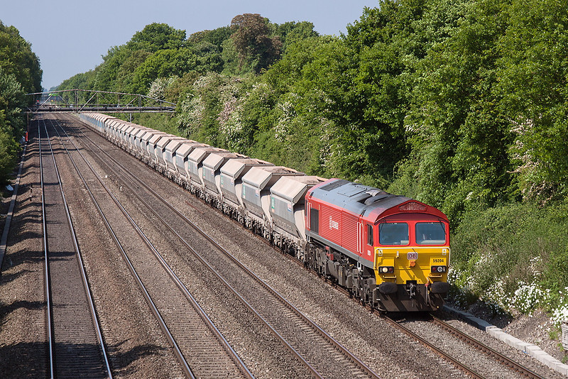 6th Jun 13:  59204 has 34 on as it works 7A09 Marehead to Acton through Shottesbrooke