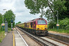 14th Jun 13:  With 67028 now at the front 1Z24 returns, through Wraysbury, from Windsor & Eaton Riverside.  The destination is Stewarts Lane Depot