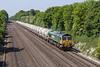 6th Jun 13:  66524 plods along the GWML with the returning PCA Cement empties fron Theale to Earles in the Hiope Valley.