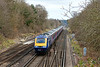 29th Mar 13:  The 11.08 from Waterloo to Penzance,1V40, on the approach to Farnborough