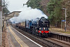 26th Mar 13:  Captured at Longcross is 60163 'Tornado' heading 'The Cathedrals Express' to Canterbury from Newbury