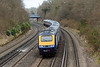 29th Mar 13:  The 07.48 from Plymouth to Waterloo (1O39) negotiates the reverse curves through Farnborough.  43004+4317020130402-