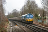 21st Mar 13:  59002  'Alan J Day' on the point of 6Z20 from Grain to Merehead approaches Martins Heron