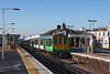 31st Mar 13:  At 08.33 the 07.40 from Brighton to London Bridge belts through Norwood Junction with 319214 at the leading unit