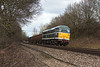 12th Mar 13:  31190 (D5613) at Great Park crossing near Mortimer working 6Z31 from Chaddesden to Eastleigh