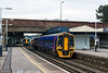 6th Feb 13:  The 12.23 from Portsmouth to Cardiff leaves Southampton in the hands of 3 car set 158952