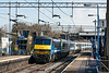 18th Mar 13:  Providing the urge on th 09.30 from Liverpool Street to Norwich is 90007.  Captured here at Marks Tey