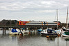 6th Mar 13:  158888 leaves Lymington Pier for the 11 minute journey to Brockenhurst