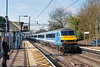 18th Mar 13:  DVT 82133 on the front of 09.30 Liverpool Street to Norwich at Marks Tey.  90007 is providing the grunt