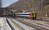 29th Mar 13:  159011 dashes through Winchfield on the 07.25 from Exeter St Davids to Waterloo