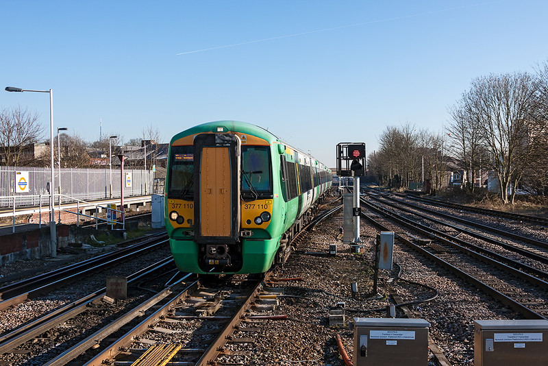 31st Mar 13:  Not stopping at Norwood Junction is 377110 forming 2C55 the 0835 London Bridge to Horsham