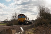 12th Mar 13:  66126 is in charge of 6X38 is it climbs away from Mortimer running from Marchwood to Didcot