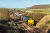 30th Nov 13:  The Pathfinder tour from Whitchurch to Eastleigh  in the hands of 37261 & 37405 is captured at Norton Bavant
