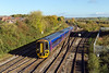 4th Nov 13:  158955 arriving at Westbury with 1F07 the 08.30 Cardiff to Portsmouth Harbour