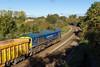 4th Nov 13:  66623 'Bill Bolsover' runs down the 1 in 104 to Bradford Junction with 4M40 Westbury to Stud Farm empties